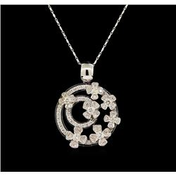 14KT White Gold 1.76 ctw Diamond Pendant With Chain