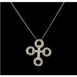 0.52 ctw Diamond Pendant - 18KT Two-Tone Gold