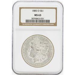 1885-O MS63 NGC Morgan Silver Dollar
