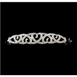 0.40 ctw Diamond Bracelet - 10KT White Gold