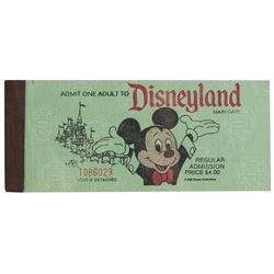 Disneyland Adult Admission Ticket.