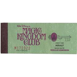 Magic Kingdom Club Disneyland Ticket.