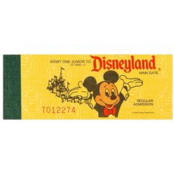 Complete Disneyland Junior Admission Ticket Book.