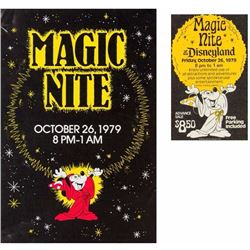 "Set of ""Magic Nite at Disneyland"" Items."