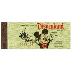 Complete Disneyland Adult Admission Ticket Book.