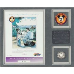 Disneyana Convention Disneyland Ticket & Coin.