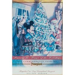 Disneyland Commemorative Holiday Passport.