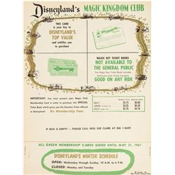 Magic Kingdom Club Membership Card Holder.