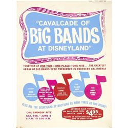 """Cavalcade of Big Bands at Disneyland"" Ticket Poster."