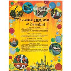 """1st Annual IBM Night at Disneyland"" Poster."