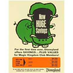 Magic Kingdom Club Ticket Poster.