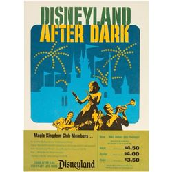"""Disneyland After Dark"" Ticket Poster."