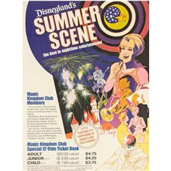 """Disneyland's Summer Scene"" Ticket Book Poster."