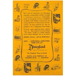 Disneyland Ticket Book Gate Flyer.