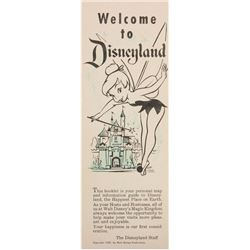"""Welcome to Disneyland"" Gate Flyer."