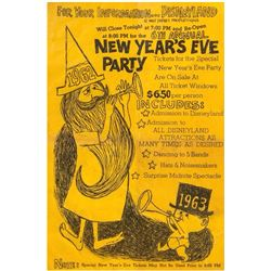 Disneyland New Year's Eve Party Gate Flyer.