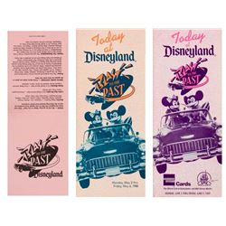 "Set of (3) ""Blast to the Past"" Disneyland Gate Flyers."