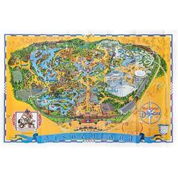 1975 Disneyland Map.