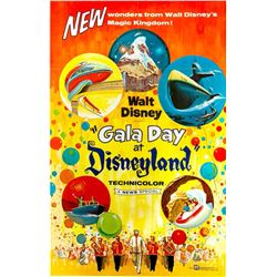 """Gala Day at Disneyland"" One-Sheet Movie Poster."