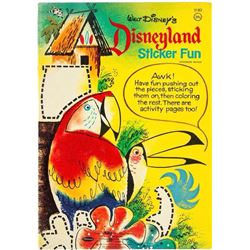 """Disneyland Sticker Fun"" Book."