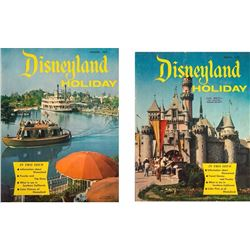 "Pair of ""Disneyland Holiday"" Magazines."