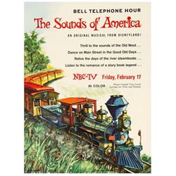 """The Sounds of America"" Disneyland Musical Poster."