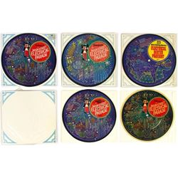 "Set of (5) ""Main Street Electrical Parade"" Records."