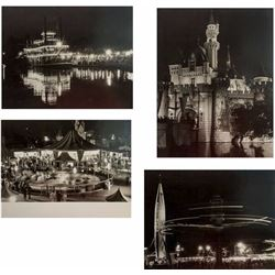 "Set of (4) ""Disneyland After Dark"" Photo Prints."