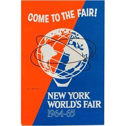 """Come to the Fair!"" World's Fair Poster."