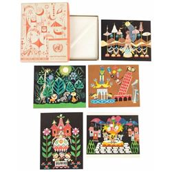 "Mary Blair ""Small World"" Concept Greeting Card Set."
