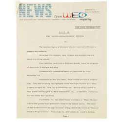 WED Information Memorandum on Audio-Animatronics.