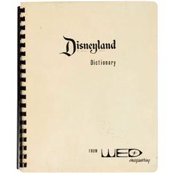 "WED Imagineering ""Disneyland Dictionary"" Booklet."