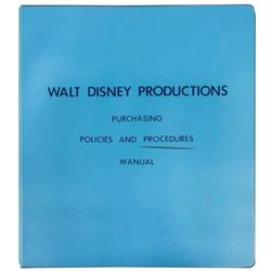 "Walt Disney Productions ""Purchasing Policies"" Manual."