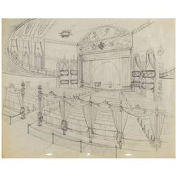 """Mickey Mouse Club Theater"" Concept Drawing."