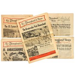 "Collection of (5) ""The Disneyland News"" Newspapers."