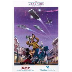 PSA Airline Disneyland Travel Poster.