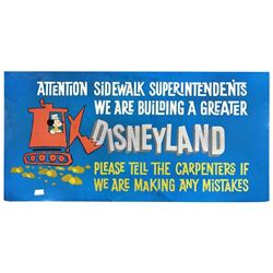 Disneyland Construction Billboard.