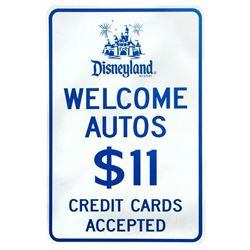 Disneyland Resort Metal Parking Sign.