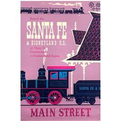 """Santa Fe & Disneyland Railroad"" Attraction Poster."