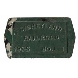 """Disneyland Railroad"" Bolster Plate."