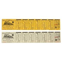 "Complete Adult and Child ""Disneyland Railroad"" Tickets."