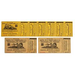 Group of  Disneyland Railroad  Passage & Freight Tickets.