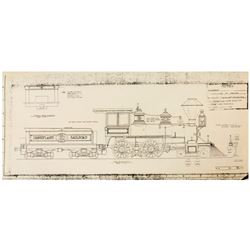 """Disneyland Railroad"" Locomotive Blueprints."