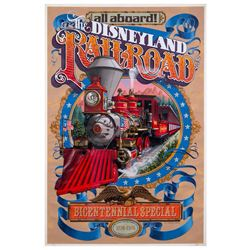 """Disneyland R.R. - Bicentennial Special"" Attraction Poster."