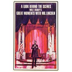 """Great Moments with Mr. Lincoln"" Brochure."