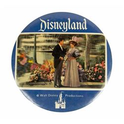 Unusual Large Disneyland 3-D Picture Button.