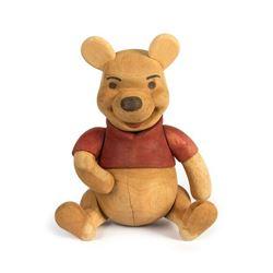 Hand-Carved Winnie the Pooh Prototype Figurine.