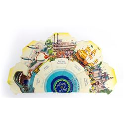 Acres of Fun  Souvenir Paper Fan.