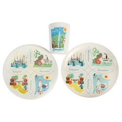 Disneyland Cup and Plate Set.