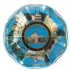 Disneyland Souvenir Scalloped Glass Plate.